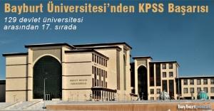 Bayburt Üniversitesi'nden KPSS Önlisans Başarısı