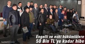 Engelli ve eski hükümlülere 50 Bin TL'ye kadar hibe