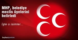 MHP, Belediye Meclis Üyelerini açıkladı