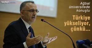 """Ağbal: """"Türkiye dünyanın ilk 10 ekonomisinden birisi haline geliyor"""""""