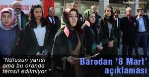 Gümüşhane Bayburt Barosu'ndan '8 Mart' açıklaması