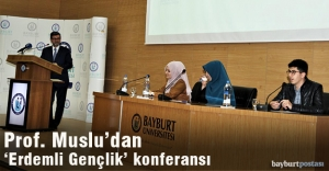 Prof. Muslu'dan 'Erdemli Gençlik' konferansı
