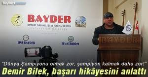 Tuncay Başaran, başarı hikâyesini BAYDER'de anlattı