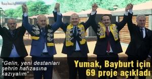Yumak, 6 tematik alanda 69 projesini açıkladı