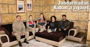 Jandarmadan Muhtar Nihal Kaban'a ziyaret