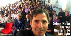 Prof. Dr. Orhan Ateş Bayburt Ortaokulu'nda konuştu