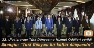 23. Uluslararası Türk Dünyasına Hizmet Ödülleri sahiplerini buldu