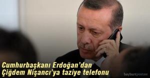 Cumhurbaşkanı Erdoğan'dan, Çiğdem Nişancı'ya taziye telefonu