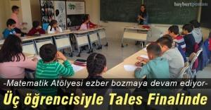 Matematik Atölyesi, üç öğrencisiyle Tales Finalinde