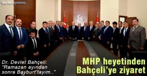 MHP heyetinden Bahçeli'ye ziyaret