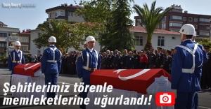 Şehitlerimiz Trabzon'dan törenle uğurlandı
