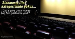 2018 yılında Bayburt'ta kaç film gösterime girdi?