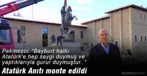 Atatürk Anıtı, Saray Bahçesi'ne monte edildi