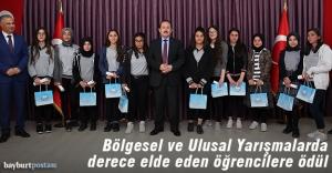 Bayburt'ta 100'ün üzerinde başarılı öğrenciye ödül