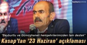 Kasap'tan İstanbul'daki seçim çalışmaları hakkında açıklama