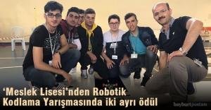 'Meslek Lisesi' robotik kodlama yarışmasında birinci