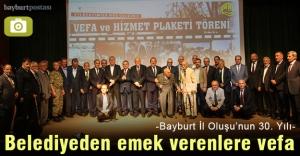 Bayburt Belediyesi'nden Vilayetlik davasına hizmet edenlere vefa