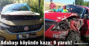 Adabaşı köyünde kaza: 9 yaralı