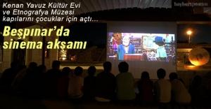 Beşpınar'da çocuklar için sinema akşamı