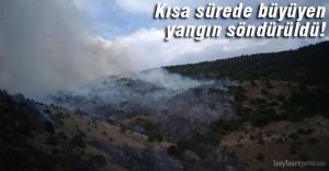 Korkutan yangın söndürüldü!