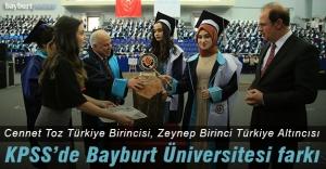 KPSS'de Bayburt Üniversitesi farkı