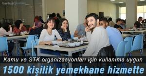 Bayburt Üniversitesi Kültür Merkezi 1500 kişilik yemekhaneyle hizmette