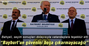 MHP Genel Başkanı Devlet Bahçeli'den Bayburtlular'a teşekkür