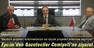 Vali Epcim'den Gazeteciler Cemiyeti'ne ziyaret