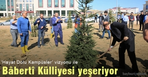 Bayburt Üniversitesi, Bâbertî Külliyesi'ne 480 Ağaç daha dikti