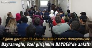 Bayramoğlu, Söğütlü Kültür Evi projesini BAYDER'de anlattı
