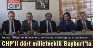 CHPli dört milletvekili Bayburtta
