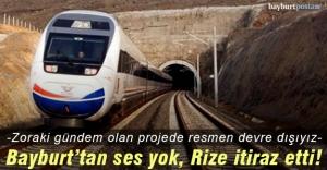 Demiryolu projesinde Bayburt devre dışı!