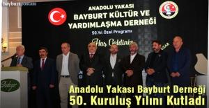 Anadolu Yakası Bayburt Derneği 50. Yılını kutladı