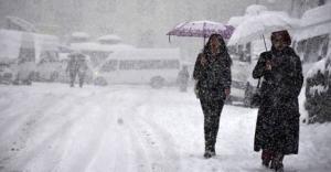 Bayburta kar yağışı uyarısı