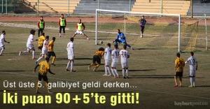 Etimesgutspor karşısında 90+5'te iki puan gitti!
