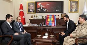 Vali Cüneyt Epcim'den Arslan Gürer'e ziyaret