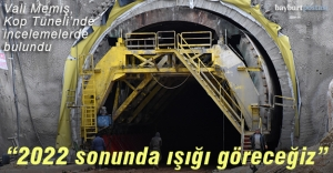 """Vali Memiş: """"Kop Tüneli'nde 2022 sonunda ışığı göreceğiz"""""""