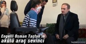 22 yaşındaki Osman Taştan'a akülü araç