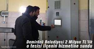 Demirözü'nde içme suyu arıtma tesisi tamamlandı