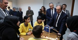 Vali Epcim, STEM Atölyesi'nin açılışını yaptı