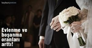 Bayburt'ta evlenme ve boşanma istatistikleri