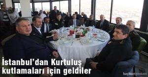 İstanbul'dan Kurtuluş için gelen misafirler ağırlandı