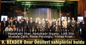9. BEKDER Onur Ödülleri sahiplerini...