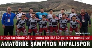 Arpalıspor, 11 maçta 60 golle namağlup...