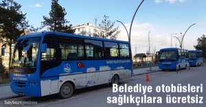 Belediye otobüsleri sağlık çalışanlarına...