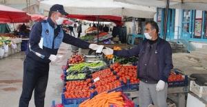 Halk Pazarında koronavirüs tedbirleri