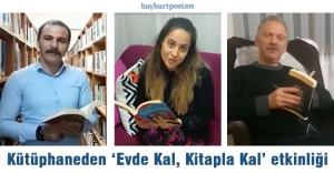 """Kütüphaneden """"Evde Kal, Kitapla Kal"""" kampanyası"""