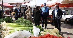 Vali Cüneyt Epcim, Halk Pazarında Denetlemelerde Bulundu