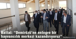 """Milletvekili Battal: """"Demirözü'ne entegre bir hayvancılık merkezi kazandırıyoruz"""""""