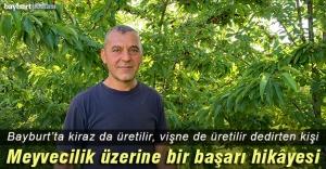 Bayburtta örnek bir meyve üreticisi,...